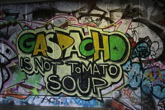 Gaspacho is not tomato soup (www.AlastairHumphreys.com) Tags: london tomato soup graffiti paint gaspacho alastairhumphreys lblcomp026 wwwalastairhumphreyscom