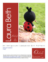 Laura Beth pattern page 1 (*mia*) Tags: baby girl insect toy costume wings doll crochet dressup softie kawaii ladybird ladybug amigurumi pretend stuffie namechange laurabeth october2007