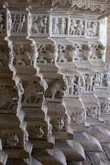 Jain Temple Carvings (sophia.nolan.walker) Tags: travel india art temple marble jain carvings rajasthan ranakpur