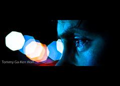 Big Bokeh (TGKW) Tags: city light portrait people eye night kevin colours bokeh glasgow kev