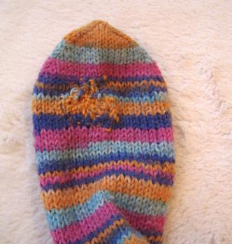 Darned sock