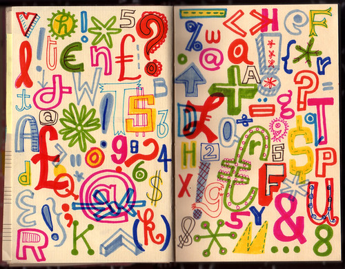 Lettering Sketchbook / Linzie Hunter