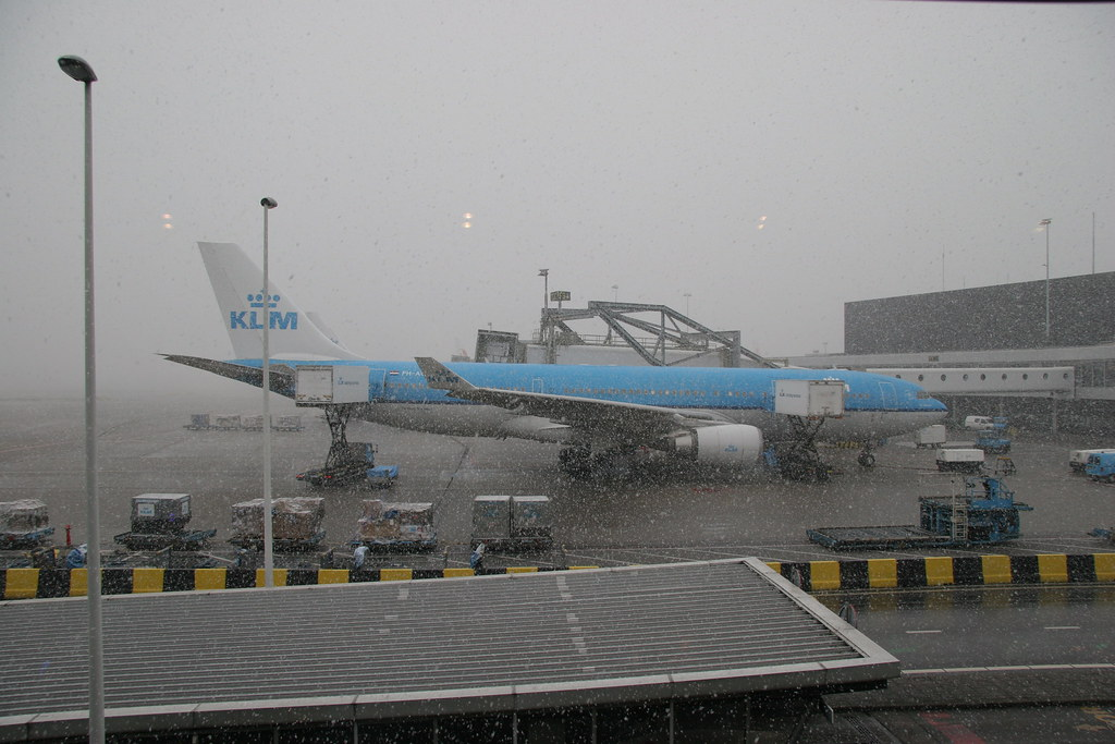 KLM Airbus A330 in the Snow by Erwyn van der Meer, on Flickr