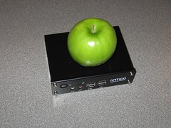 Size Comparison  with an apple