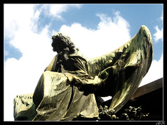 Angel tears (LordGK) Tags: light graveyard statue angel buenosaires cementerio tomb crying recoleta melancholy