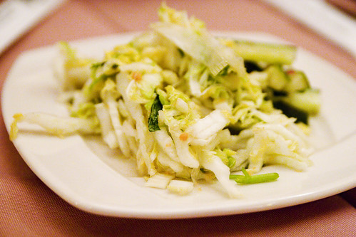 complimentary pickled veg