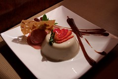 coconut rosewater panna cotta