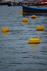 Yellow buoys at Fowey