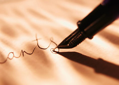 pen writing