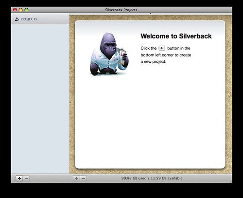 Silverback welcome screen