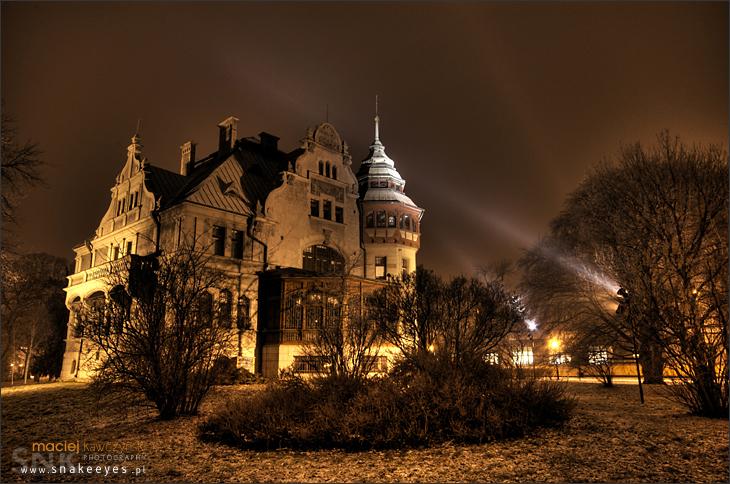 Rektorat PŁ - noc