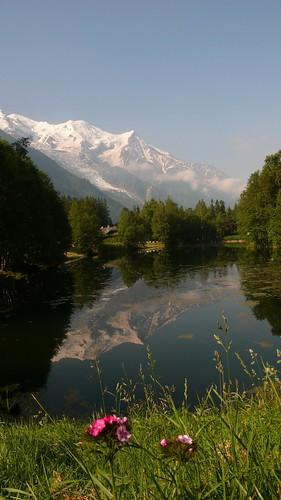 Les Praz lake