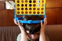 Connect Four crown (massdistraction) Tags: silly littleman crown twincities pizzaluce fridaynight connectfour fridaynightdinner ohtheexcitement