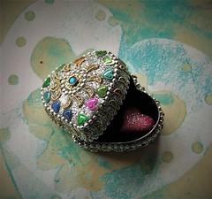 secret heart (jenbrasnett) Tags: smileonsunday lovelyhearts heart box bling gelliprintedpaper glitter sparkle