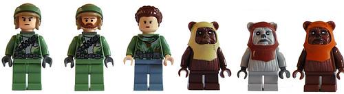 Lego set 8038 - Battle On Endor minifigs
