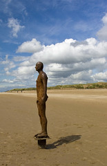 Antony Gormley's Another Place... Crosby Beach (pixiepic's) Tags: sky beach clouds sand dunes ironman gormley crosby platinumheartaward