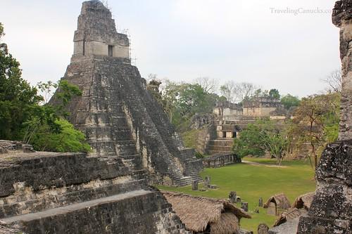 Mayan Temples in Gran Plaza, Tikal National ParMayan Temples in Gran Plaza, Tikal National Pak