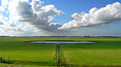 symmetrical landscape ( - s  ) Tags: holland netherlands dutch clouds view wide nederland wolken naturereserve uitzicht zeeburg texel hollands landschap landsape weids deeendracht natuurreservaat challengeyouwinner onlyyourbestshots thechallengegame challengegamewinner