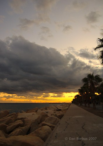 Limassol seafront, two days ago