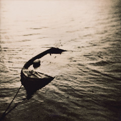 Swamped (Parcelpacker) Tags: water boat holga cornwall lith palabra digitalnegative sunnycorner kentmerekentona