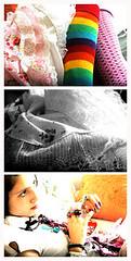 (Emily Esperanza) Tags: cute colors girl rose socks rouge three rainbow pretty candy lace girly vert rings petticoat brite kandi kneehighsocks vintageplastic