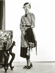 anna may wong stripey suit (carbonated) Tags: ladies bw vintage