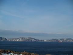 Newfoundland - Cape Spear (gwhiteway) Tags: ocean christmas xmas sea snow canada tower nature water rock stone newfoundland walking landscape ship hiking shoreline stjohns vessel cabot cans2s preservetnc07 bestnaturetnc07