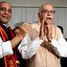 Modi Win: BJP President Rajnath Singh with senior leader L K Advani