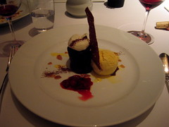 Chocolate Fondant with Bourbon Vanilla Bean Ice Cream
