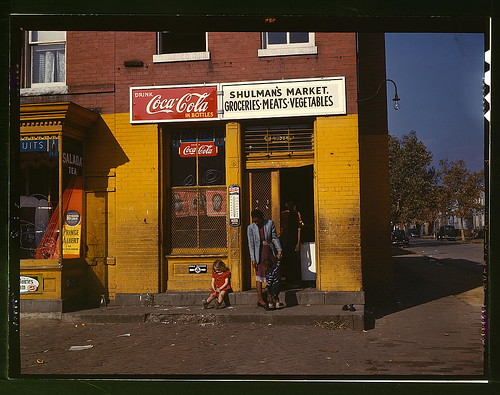 Shulmans market, on N at Union Street S.W., Washington, D.C. - fra Library of Congress