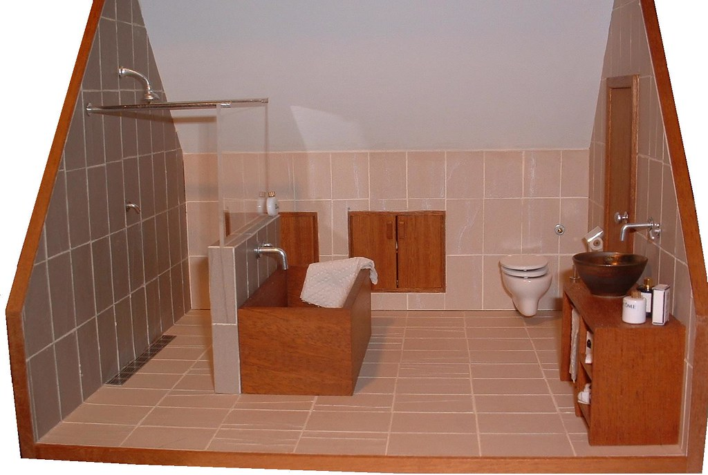 miniature loft bathroom