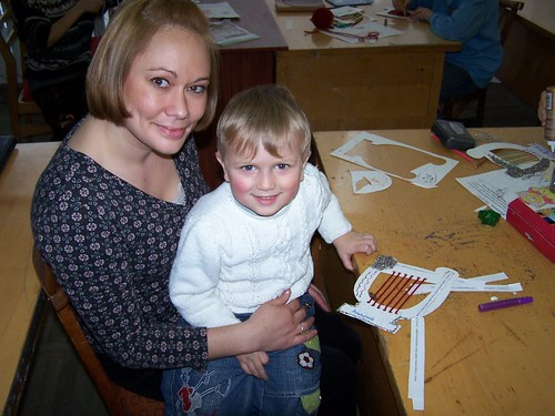 Edna and two year old Andriy at church