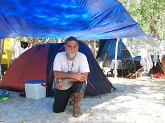 en la carpa de camping