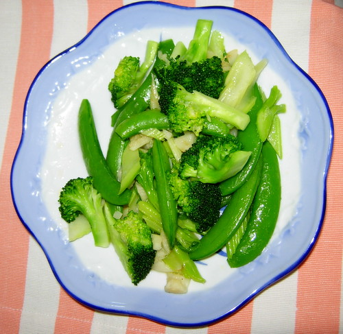 brocolli,sweet peas and celery