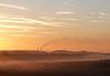 Distant Chimneys (Pauline Atkey) Tags: sunrise esso refinery newforest chimneys fawley fbdg