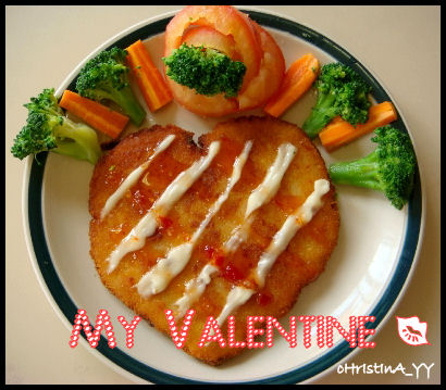 Heart-Shape Chicken Breast Schnitzel