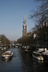 Westerkerk, Feb' 2008 (Michael & Maggie Lee) Tags: amsterdam canals 2008 friendsfamily westerkerk marklucie
