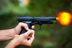 Bang! ((davide)) Tags: photoshop fire nikon gun pistol d200 nikkor bang topf150 topv4444 50mmf14 beretta m92 muzzleflash interestingness498 i500 goldstaraward explore20080309