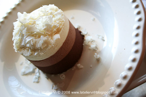 triple mousse on plate