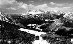 Just Mountains (Iwcix) Tags: winter bw italy alps monochrome mountainview mountainpeak