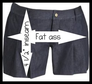 Plus Size Short Shorts