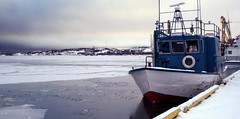 Yellowknife Fishing Boat- Canada (morganjdavis) Tags: canada frozenlake yellowknifecanada
