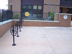 Bicycle parking at the Friends building