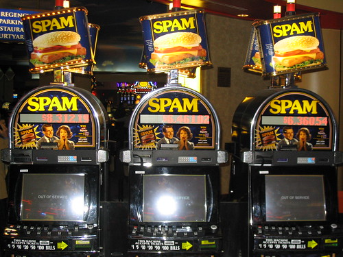 Spam Slot Machines by Emily Curtin