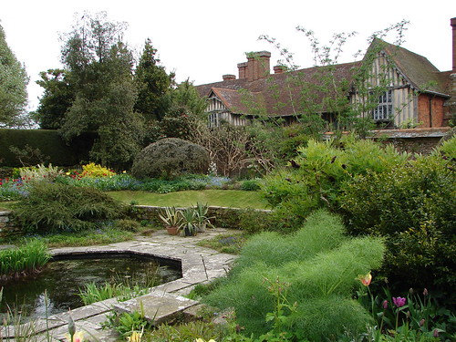 A view of the house and the pond
