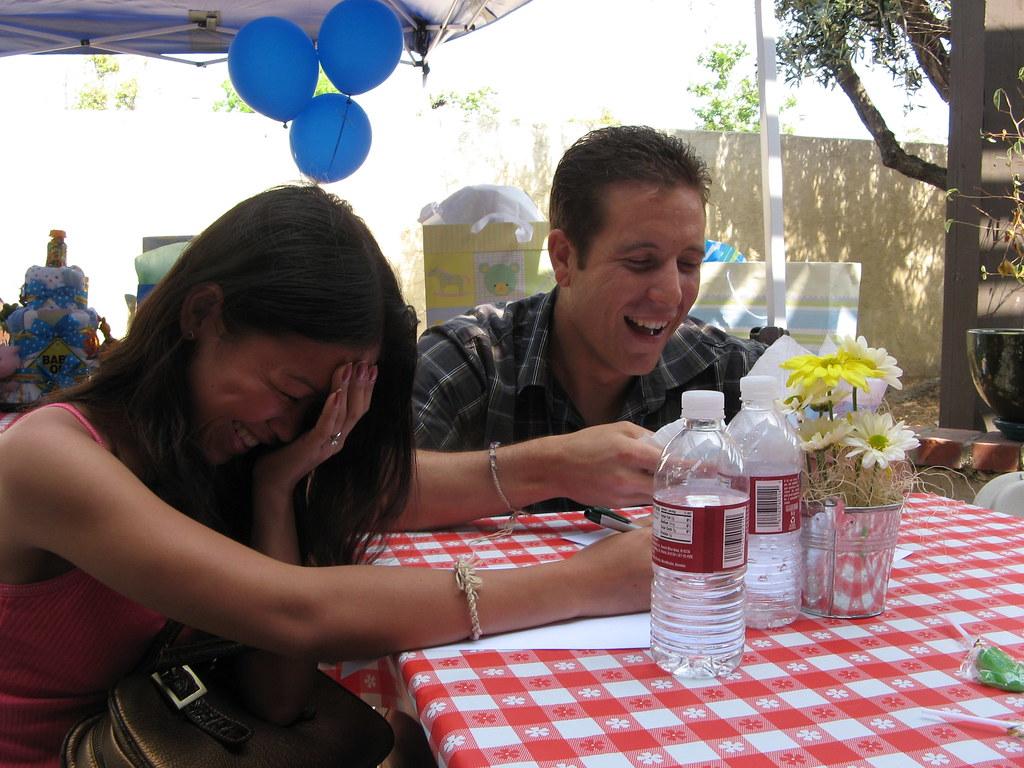 Diaper game=laughter