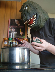 14/05/2008 (Day 2.135) - Nizella Express (Kaptain Kobold) Tags: building kitchen monster alan book phone mask copycat godzilla 365 timer kaiju saucepan nigella cookery nigellalawson seflportrait kaptainkobold 365days yourfave nwoman 365wednesday 365more nigellaexpress 365year2 3650508 day2135