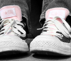 Converse;; Nada Special (ICA sayss...!) Tags: pink color feet star shoes all converse coloring chuck taylors selective