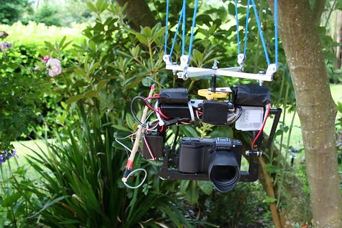 Nacelle de photo aérienne par cerf-volant