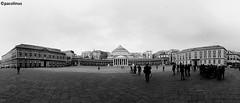 Piazza Plebiscito (pacolinus) Tags: napoli piazzaplebiscito bw biancoenero colonnato colonne piazza
